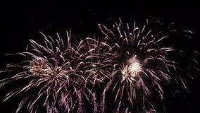 Gli alti fuochi d'artificio della definizione visualizzano HD pieno stock footage