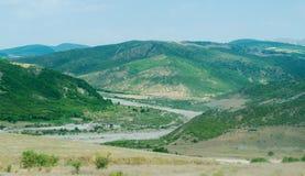 Gli altopiani nel villaggio dell'Azerbaigian Fotografia Stock Libera da Diritti
