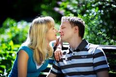 Gli amanti equipaggiano e donna Fotografie Stock