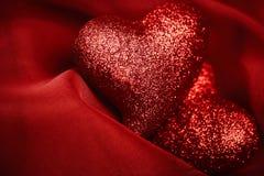 Gli ambiti di provenienza del biglietto di S. Valentino astratto Fotografia Stock Libera da Diritti