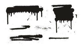 Gli ambiti di provenienza, le linee & i gocciolamenti di vettore dell'estratto della pittura di spruzzo hanno messo 06 illustrazione di stock