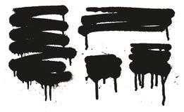 Gli ambiti di provenienza di vettore dell'estratto della pittura di spruzzo hanno messo 13 illustrazione di stock