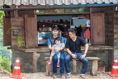 Gli amici con il bambino Fotografia Stock Libera da Diritti