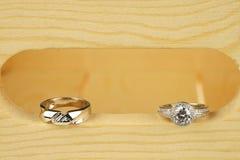 Gli anelli di cerimonia nuziale Immagini Stock Libere da Diritti