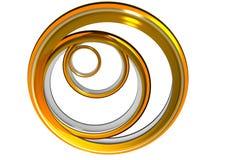 Gli anelli dorati Fotografia Stock