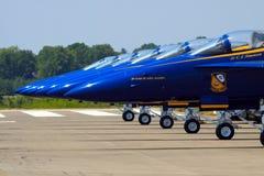 Gli angeli blu Fotografia Stock