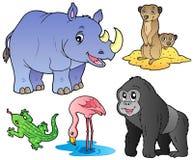 Gli animali del giardino zoologico hanno impostato 1 Fotografia Stock Libera da Diritti