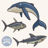 Gli animali di mare hanno messo 2 Immagine Stock Libera da Diritti