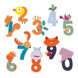 Gli animali numerano la progettazione di vettore royalty illustrazione gratis