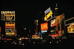 Gli anni 50 dell'annata del Times Square Fotografie Stock Libere da Diritti