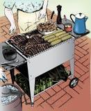Gli anni 50 dell'annata equipaggiano cuocere Immagine Stock