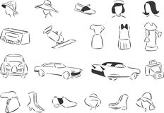 gli anni 60 illustrazione di stock