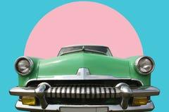 Gli anni 60 verdi dell'automobile dell'annata Fotografie Stock Libere da Diritti