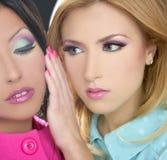 Gli anni 80 della bambola delle donne di Barbie designano il trucco di fahion Immagine Stock Libera da Diritti