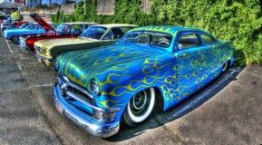 Gli anni 50 americani dipinti abitudine Ford Customline Fotografie Stock