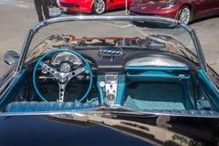gli anni 50 Chevy Corvette immagini stock libere da diritti