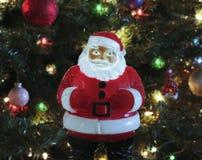 Gli anni 50 d'annata accendono Santa Claus Fotografia Stock Libera da Diritti