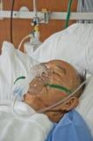 Gli anziani patien in ospedale fotografia stock