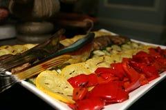 Gli aperitivi sono pronti per gli ospiti Fotografia Stock Libera da Diritti