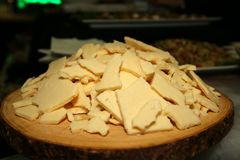 Gli aperitivi sono pronti per gli ospiti Dica il formaggio Fotografie Stock