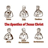 Gli apostoli di Jesus Christ royalty illustrazione gratis