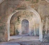 Gli archi dell'interiore 1800 della fortificazione Fotografia Stock Libera da Diritti