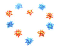 Gli archi della stella hanno organizzato nella figura del cuore Immagini Stock