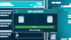 85 Gli archivi del messaggio di avviso di progresso di recupero di dati hanno recuperato l'allarme sullo schermo illustrazione vettoriale