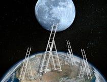 Gli astronauti ritorneranno alla luna nel 2024 fotografie stock libere da diritti