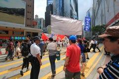 Gli attivisti 2015 di Hong Kong marciano davanti al voto sul pacchetto elettorale Fotografie Stock Libere da Diritti