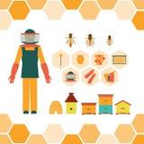 Gli attrezzi per bricolage dell'apicoltore Illustrazione Vettoriale