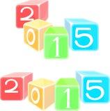 Gli attributi del nuovo anno Immagini Stock Libere da Diritti