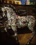 Gli autoadesivi originali di Londra decorati cavallo scoprono Fotografia Stock Libera da Diritti