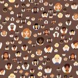 Gli avatar senza cuciture del modello con il facial caratterizza il vettore differente dei caratteri della gente dei vestiti e de Fotografia Stock