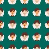 Gli avatar senza cuciture del modello con il facial caratterizza l'illustrazione di vettore dei caratteri della gente di nazional Fotografie Stock