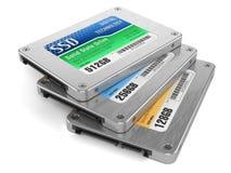 Gli azionamenti dello SSD, indicano gli azionamenti solidi Immagine Stock