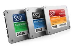 Gli azionamenti dello SSD, indicano gli azionamenti solidi Immagine Stock Libera da Diritti