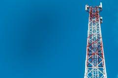 Gli azzurri elettrici dell'antenna eliminano Fotografia Stock Libera da Diritti
