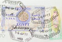 Gli ebrei con gli Arabi vivono armoniosamente nel passaporto Fotografia Stock