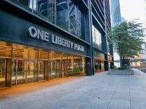 Gli edifici di un Liberty Plaza in città, New York immagine stock