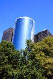 Gli edifici per uffici di palazzo multipiano in Lower Manhattan Fotografie Stock Libere da Diritti