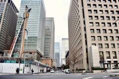 Gli edifici per uffici nel centro del Giappone Tokyo finanziano il settore commerciale fotografia stock