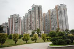 Gli edifici residenziali Fotografie Stock