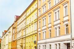 Gli edifici residenziali variopinti dentro haidhausen - Monaco di Baviera Fotografia Stock Libera da Diritti