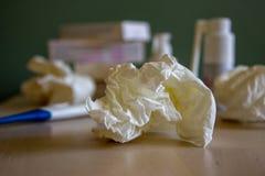 Gli effetti dell'allergia, freddo, asma fotografia stock