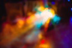 Gli effetti speciali della luce del club della discoteca di colore ed il laser mostrano Fotografia Stock Libera da Diritti