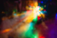 Gli effetti speciali della luce del club della discoteca di colore ed il laser mostrano Fotografie Stock Libere da Diritti