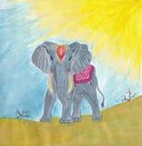 Gli elefanti sono animali splendidi e prideful Fotografie Stock Libere da Diritti