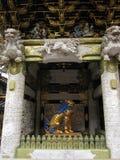 Gli elementi decorativi del giapponese tradizionale shrine e tempio Immagini Stock Libere da Diritti