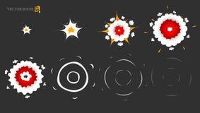 Gli elementi dell'esplosione di animazione di vettore Fotografia Stock
